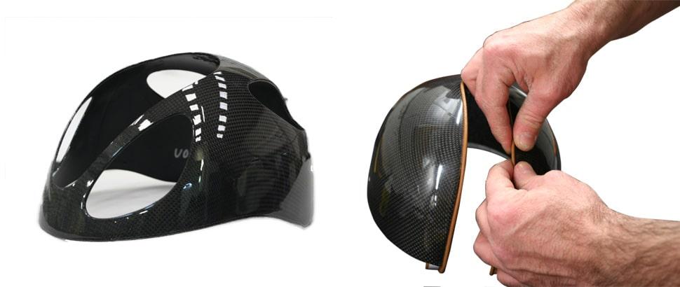 Détail de l'assemblage d'un casque d'équitation GPA
