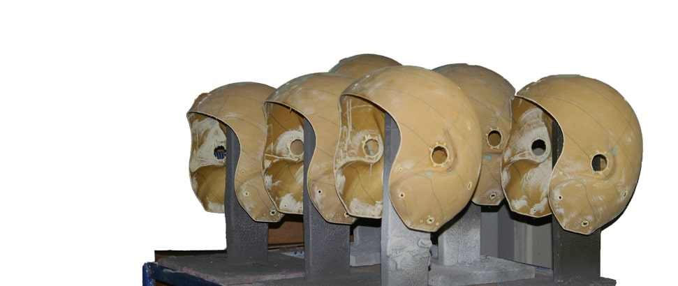 Fabrication de casque de protection pour l'aviation